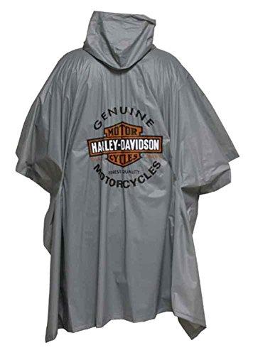Harley Herren-jacken Davidson (Harley Davidson Rain Poncho grau Einheitsgröße)