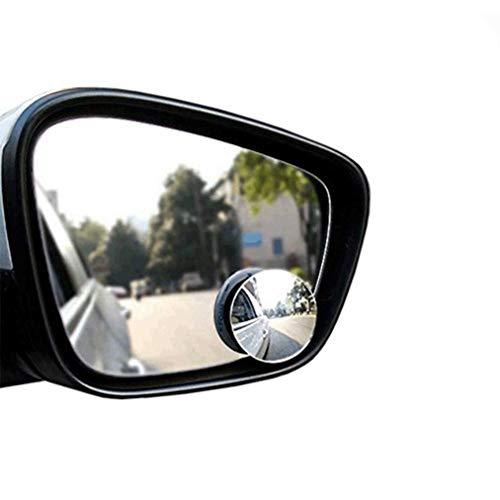 Poualss Ein Paar 360 Grad drehbaren Toten Winkel Spiegel HD einstellbare Rückspiegel blinden Fleck Spiegel für Auto und Motorrad - Erweitern Bad-spiegel