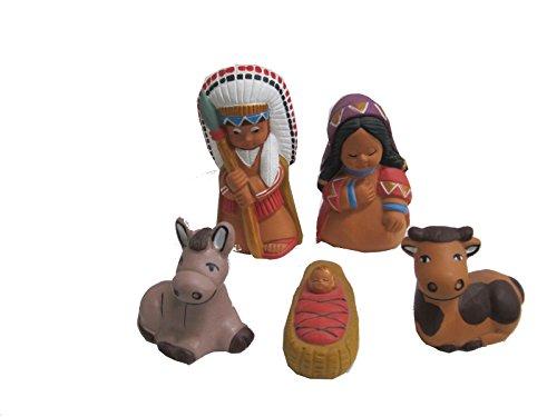 Discount ethnique – Crèche terre cuite Apache H.10 cm..