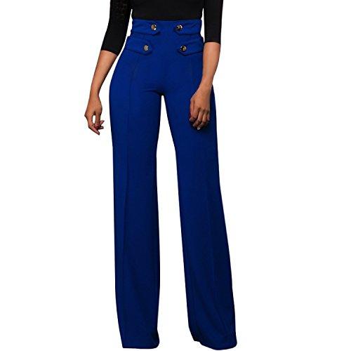 LAEMILIA Damen Marlenehose Business Stoffhose Anzughosen Hohe Taille Elegante Bootcut Hose Classic Schlaghose Festlich Abendmode Partywear