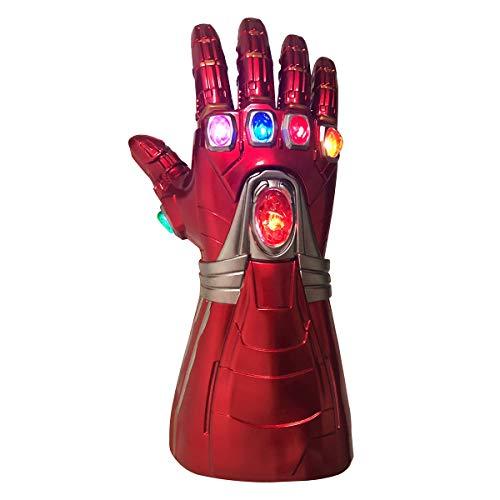 NUWIND Man Infinity Handschuh Thanos Handschuh LED mit magnetischen Unendlichkeitssteinen Halloween Cosplay Kostüm Requisite Iron Endgame (Iron Mann Kostüm Handschuhe)