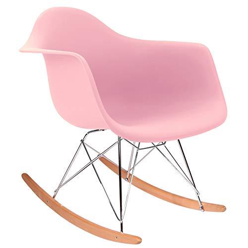 Chaise Privée Eames Schaukelstuhl-Pink, Natur -