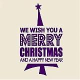 xingbuxin Citazioni di Decalcomanie da Muro di Buon Natale Auguriamo Buon Natale Adesivi da Parete in Vinile Decorazioni per Porte Home Art Murale Capodanno 4 42x71cm