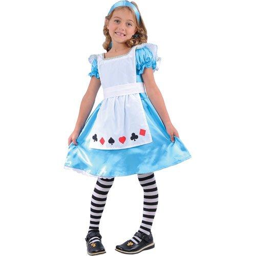 Kids Alice Kostüm, große 8-10 Jahren. Kleid und Stirnband. 134cm-146cm (Alice Storybook Kostüme)