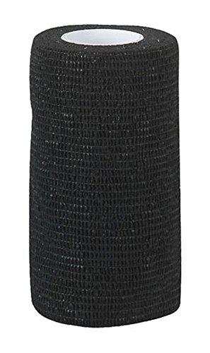 Flexible Selbstklebende Bandagen (12 Stück Equilastic 10 cm schwarz Bandagen für Pferde selbsthaftende Pferdebandagen Haftbandage elastischer Verband Gelenkbandage flexible Binde selbstklebend Fixierbinde Flexbandage Klauenbandage)