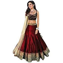Lovisa Fashion womens bangalory silk maroon Lehenga_Free Size_SF121