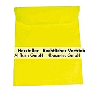 Allflash Warnwestenbeutel gelb mit Klettverschluss