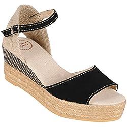 Sandalette DONNA schwarz Gr. 38 - (DONNA BLACK-BLACK GR. 38)