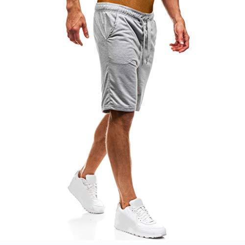 sweatshorts herren einfarbig sweatpants cargo hose männer slim fit jogginghose mit seitentaschen jungen freizeithose stretch jogger trekkinghose kordel regular fit activewear hosen lockere