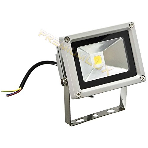 hler, 10 Watt LED Flutlicht Fluter Strahler im Freien, Ersetzt 100 Watt Glühlampen and Halogenlampen, Warmweiss 220-240V, PREMIUMLED ()
