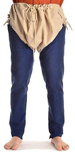 HEMAD Mittelalter Beinlinge-Paar aus fester Baumwolle blau L/XL (Helden Kostüme Für Verkauf)