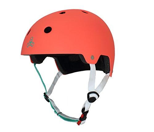 Triple 8 New York 337000–571–4LX Brain Saver EPS Helm, Tangerine, Large/X-Large