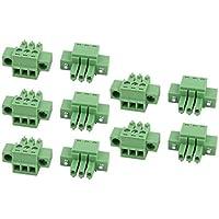 Proto Cool 10 Stücke LC1M AC300V 8A 3,5mm Pitch 3 P PCB Terminal Block Draht Verbindung
