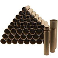 Bright Creations Brown Paper Cardboard Craft Tube Rolls (50-Pack) - 2 Sizes, 25 of Each, 15.2 and 19 cm Tall