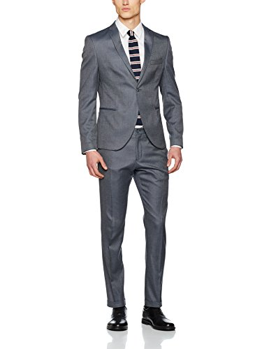 SELECTED HOMME Herren Anzughose Shdone-Louame Trousers Sts Grau (Medium Grey Melange)