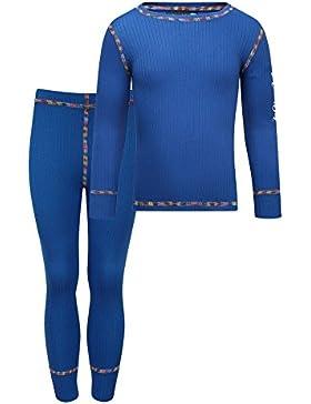 Kozi Kidz Vasa Base Layer - Conjunto térmico de ropa interior para niño, color azul, talla 130 cm