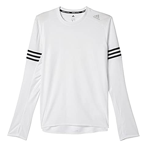 adidas Response T-Shirt manches longues Homme Blanc/Noir FR : XL (Taille Fabricant : XL)
