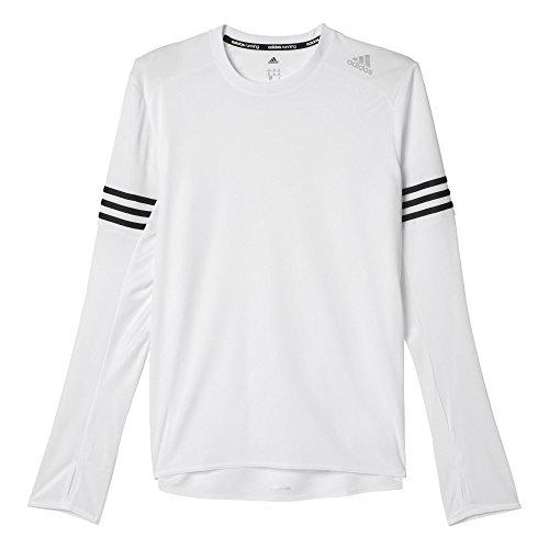 adidas Oberbekleidung Response Long Sleeve Men Langarm Shirt, White/Black, L -