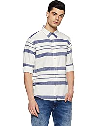 Pepe Jeans Men's Striped Regular Fit Casual Shirt