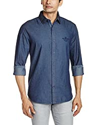 Proline Mens Casual Shirt (8907007297889_PV10631_Large_Dark Blue)