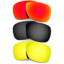 Hkuco Mens Replacement Lenses For Oakley Inmate Red/Black/24K Gold Sunglasses