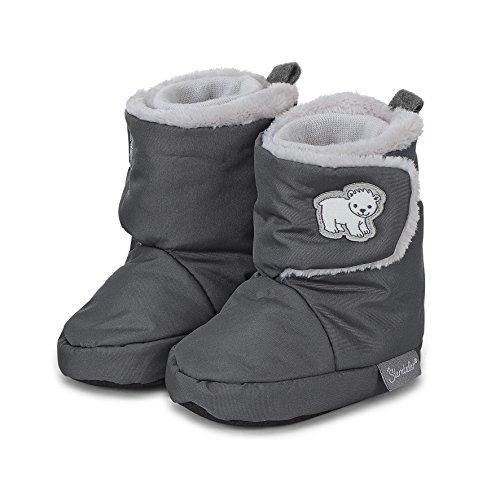 Sterntaler Jungen Baby Stiefel mit Klettverschluss, Farbe: Eisengrau, Größe: 19/20, Alter: 12-18 Monate, Artikel-Nr.: 5101803