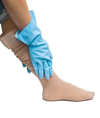 COMPRESSANA Grip - Spezial-Handschuhe zum Anziehen von Stütz- und Kompressionsstrümpfen - Größe III - von 7,8 bis 8,7 cm Handbreite