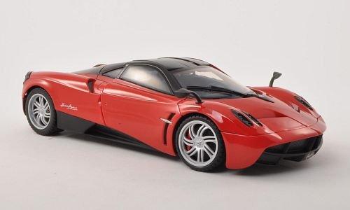 pagani-huayra-rot-schwarz-modellauto-fertigmodell-motormax-118