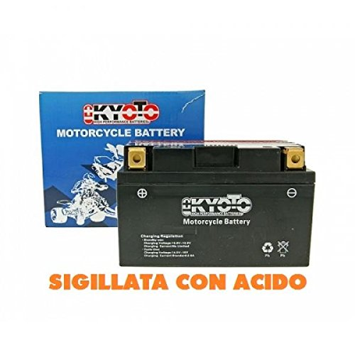 712140 BATTERIA KYOTO YTX14-BS YTX14BS SIGILLATA CON ACIDO - MOTO SCOOTER QUAD CROSS