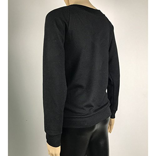 Hibote Mode Chemise Pour Femme Manche Longue Col en V Pull en Tricot Couleur Unie Jumper Casual Lâche Chemisier Tops Pour Printemps Automne Grande Taille Gris/Vin Rouge/Noir noir 1
