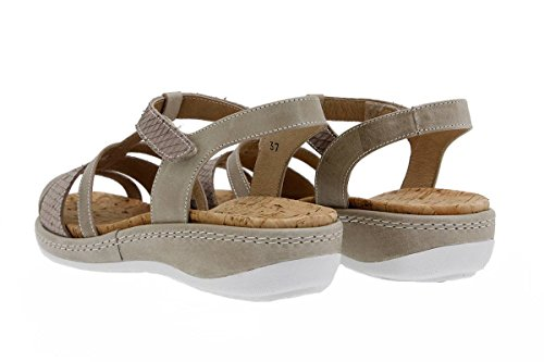 Chaussure femme confort en cuir Piesanto 1908 sandales à semelle amovible confortables amples Visón