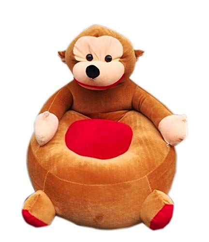 CLASS ONE Cute Monkey Shape High Quality Soft Toy Chair- Brown(50 Cm)
