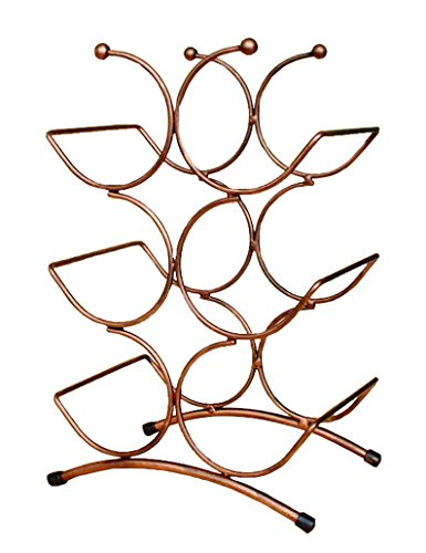 modern-winsome-art-design-metal-6-bottle-freestanding-continetal-centipede-wine-rack-wine-glass-orga