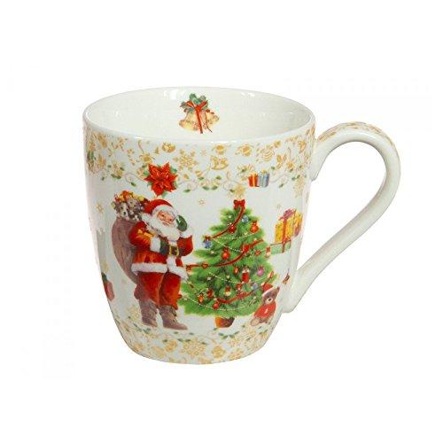 Vintage Selection Set Taza De Desayuno 2 Uds. Porcelana Navidad Dorado