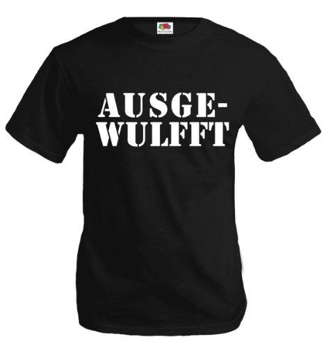 buXsbaum T-Shirt AUSGEWULFFT-XL-Black-White