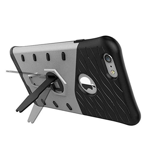 """360º Tour Coque Pour iphone 6S, iPhone 6 Case [4.7""""], Bleu TPU Béquille Sangle trou Araignée Série AOFad 7A955 7A958+Silver"""