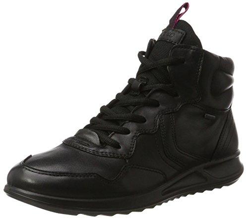 Ecco Damen Genna Hohe Sneaker, Schwarz (Black), 42 EU (Leichter Ecco Sneaker)