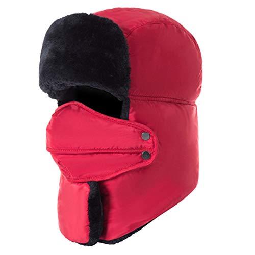 PAMRAY Cappello Neve Inverno Fleece Foderata Sciare Sports Impermeabile  Pattinando Uomo Donna Bomber Berretto Calore con 6a84ae935802