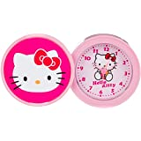 Hello Kitty kinder Alarm Tischuhr Analog Rosa HK940-5