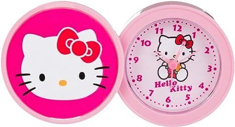 Hello Kitty kinder Alarm Tischuhr Analog Rosa HK940-5