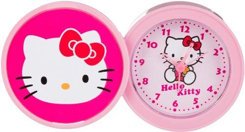 Hello Kitty Kinder Alarm Tischuhr Analog Rosa HK940-5 (Hello Kitty-geschenke Für Kinder)