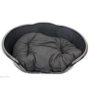 LY Tools Hundebett aus Kunststoff, mit schwarzem Kissen, Größe XL, Schwarz