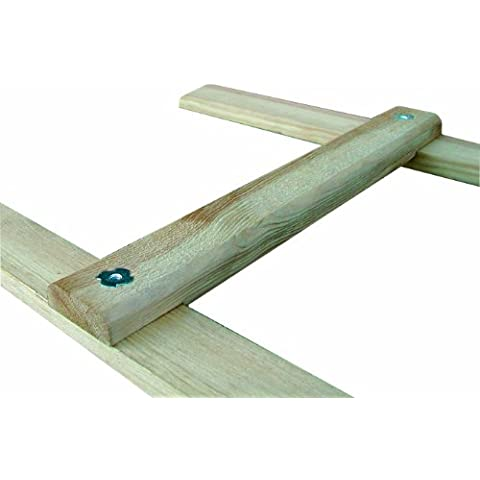 Outifrance 8833020escala de techo madera 2,00m/8peldaños, distancia entre orificios 25cm