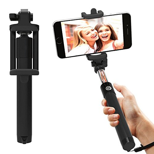 AT Shopping AUX Selfie Stick/Rod Expandable upto 29 Inches Compatible For Xolo One 16 GB Mobile Phone - Black  available at amazon for Rs.269