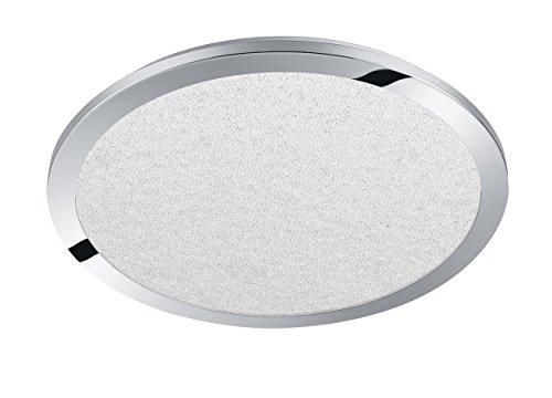 Trio Leuchten 656413006 Cesar A+, LED Deckenleuchte, Metall, 30 Watt, Integriert, Chrom, Switch-Dimmer, 60 x 60 x 2.7 cm