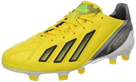 adidas Adizero F50 Trx Fg Lea, Chaussures de football homme - Jaune (Black 1), 40 EU