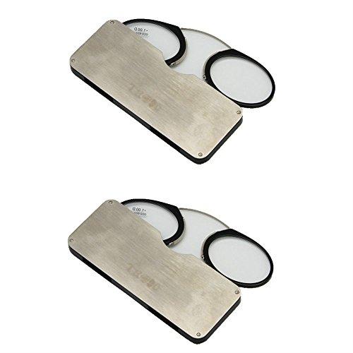 Enzodate naso di riposo + 1,0 a + 3,5, occhiali da lettura portatile emergenza portafoglio lettore stringinaso con custodia (+2.5, 2 paia)