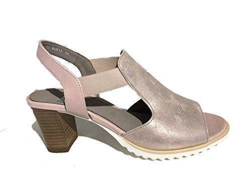 ara 12-35649 Grenoble-Sandalette Pink mit Keilabsatz Pink