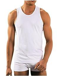 BRUBECK® 3x TA00540 COMFORT COTTON Herren Shirt | Trikot | Tank Top | Classic | Fein | Nahtlos | Perfect-Fit | Körperbetont
