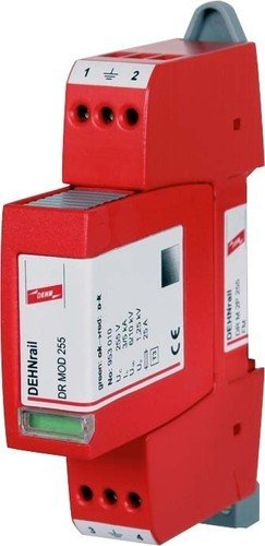 DEHN 953205 DR M 2P 255 FM 230 V rot Überspannungsschutz - Steckdosenleiste (Terminal, 50/60, 5000 A, 84 g, 18 mm